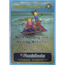 Dandelion Reading and Writing Activities units 1-10 'A Mat' and 'Sit Sam'