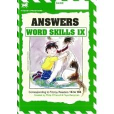 Fitzroy Word Skills 1X (1X-10X) Answer Book